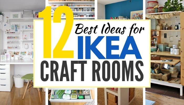 THe Absolute BEST IKEA Craft Room Ideas - the Original!