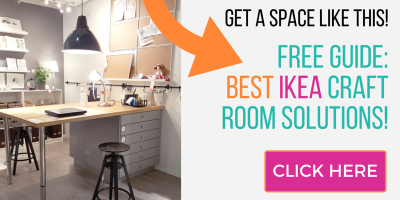 CLICK HERE to get our Ikea Craft Rooms Guide to help you design the craft room of your dreams!