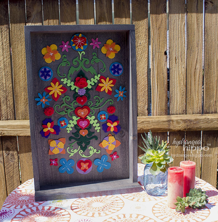 Removable Felt Flower Collage