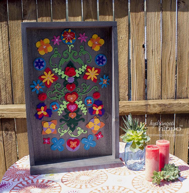 Mexican Garden Decor - Removable Felt Flower Collage ... on Mexican Backyard Decor id=65543