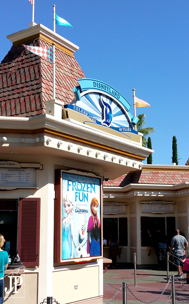 Ticket Booths are sporting the 60th Anniversary Decor at Disneyland, starting in May 2015 - JPriest
