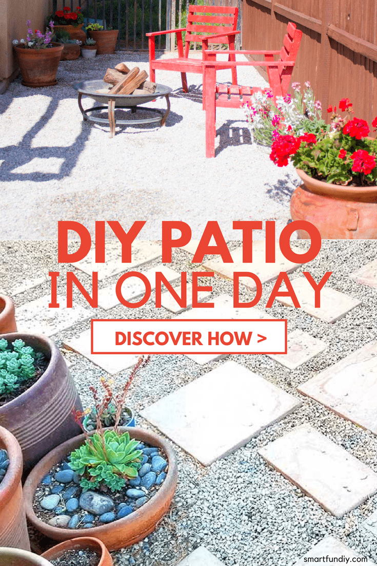 How to Make a Gravel Patio ... for under $200 in one weekend!
