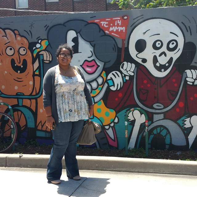 Who knew there was a street art scene in Salt Lake City, UT? We're planning to take a walking tour of the SLC street art, put together by another #altsummit attendee, maybe tonight or tomorrow. I'll be sure to share the link soon! This art was next to Even Stevens sandwich shop, where we had lunch today. Which cities have the best street art in your opinion? #streetart #saltlake #urban