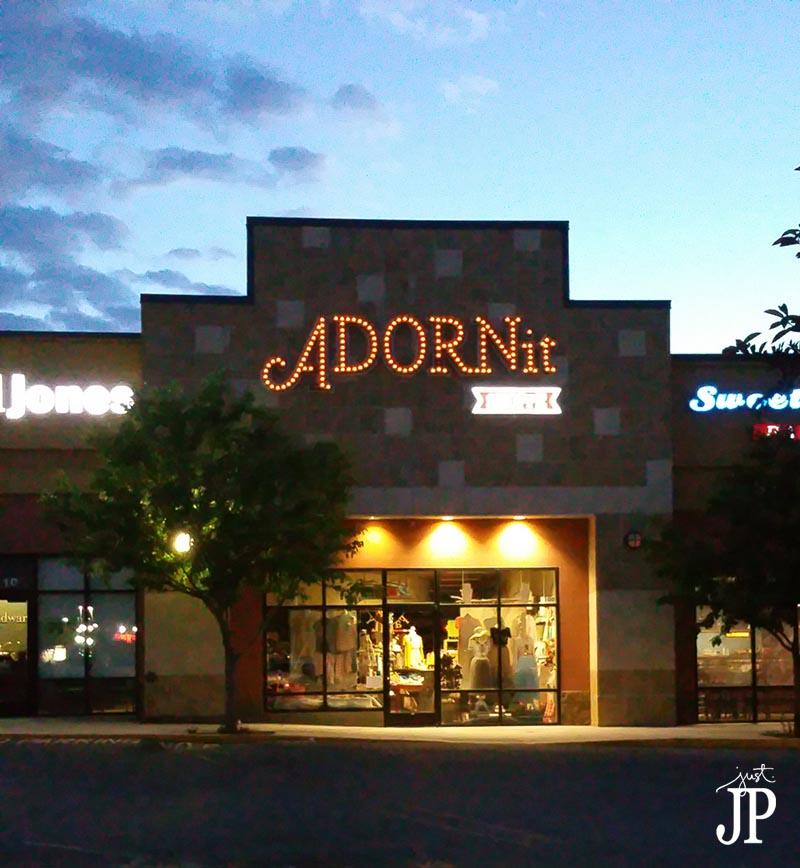 Adornit Shoppe Logan UTAH at night JPriest