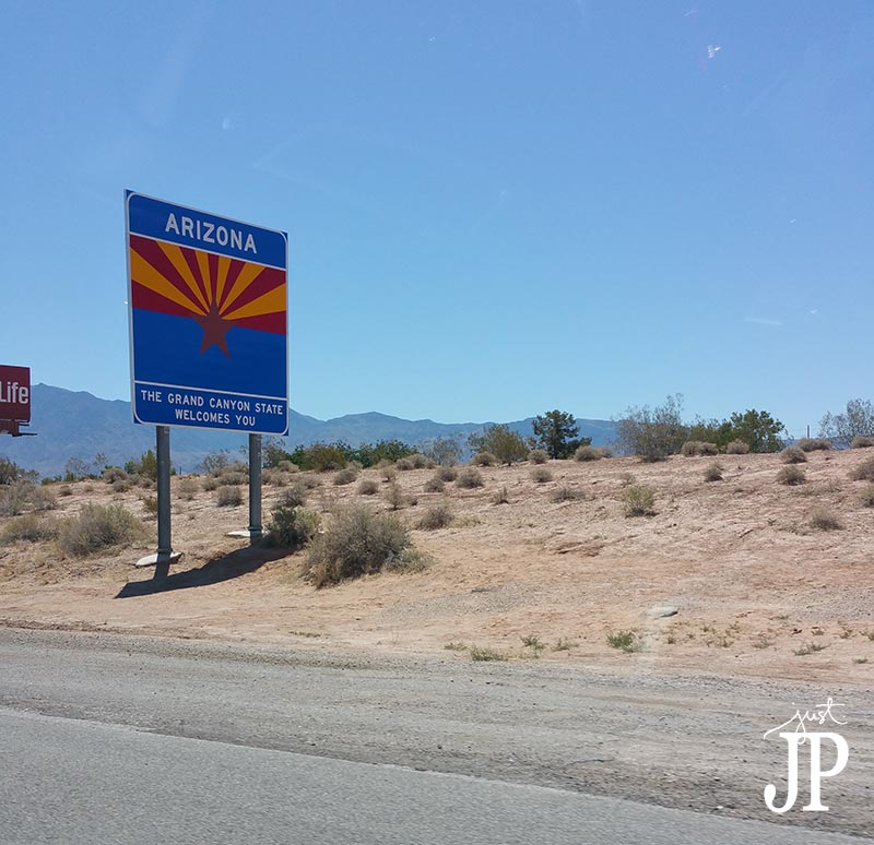 Arizona Nevada State Line California to UTAH Road Trip Just JP JPriest