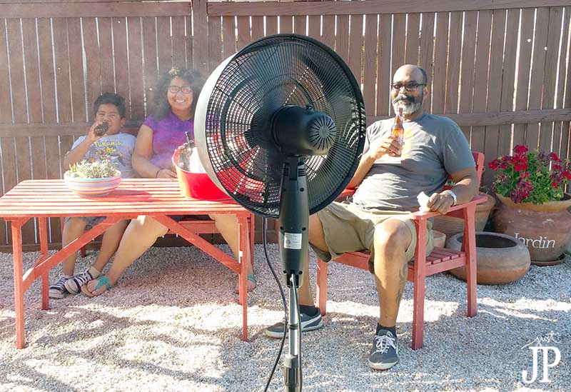 Cooling Off With Fan : Cool off with a misting fan the newair af b inch