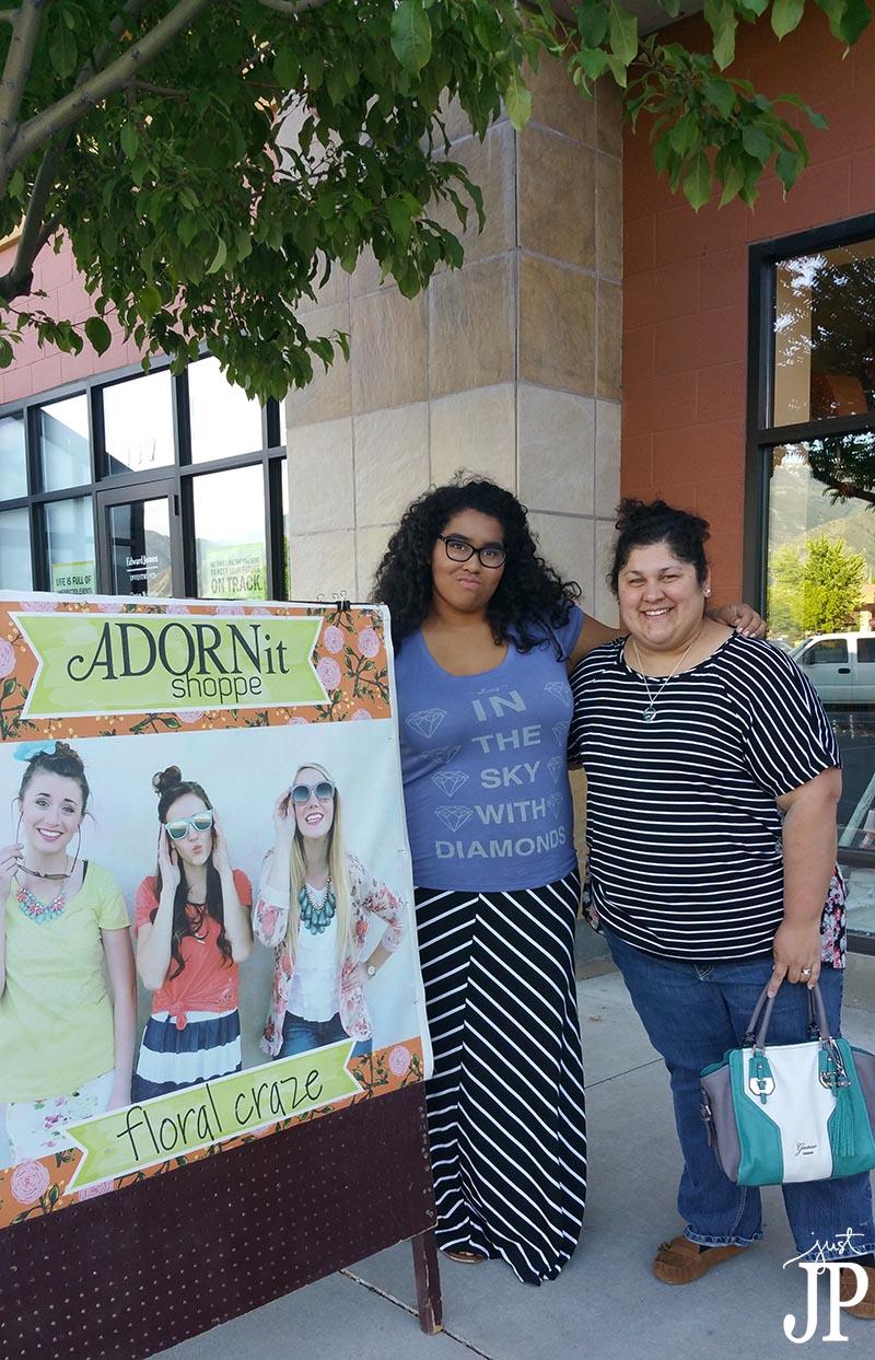 Jennifer and Katie at Adornit Shoppe in Logan UT JPriest