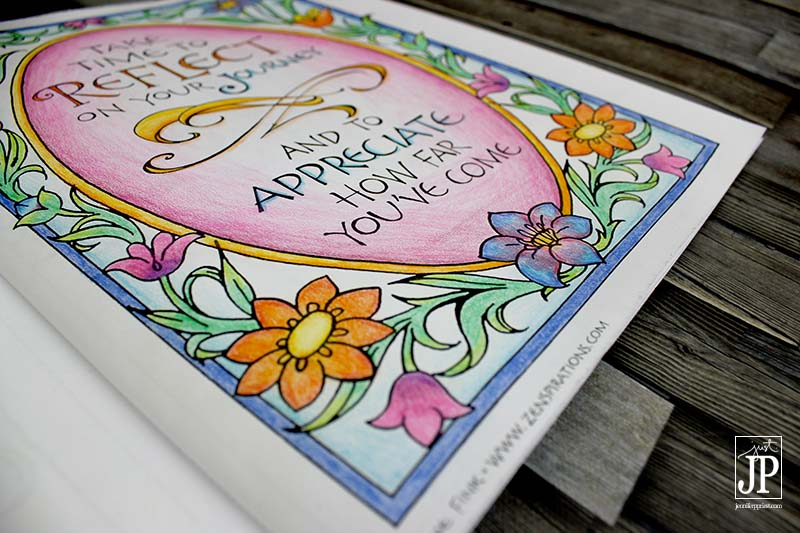 Zenspirations Coloring Book Detail By Jennifer Priest With Tombow Recycled Colored Pencil JUNE 2015