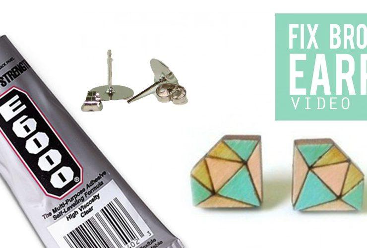 How to fix earrings – post earrings