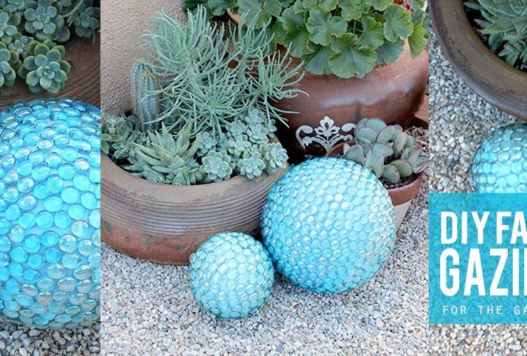 DIY Faux Gazing Ball for the Garden