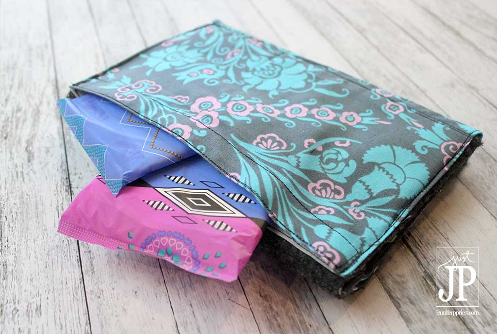 Notebook with Secret Compartment for Pads - CycleSurvival Kit with Kotex JPriest