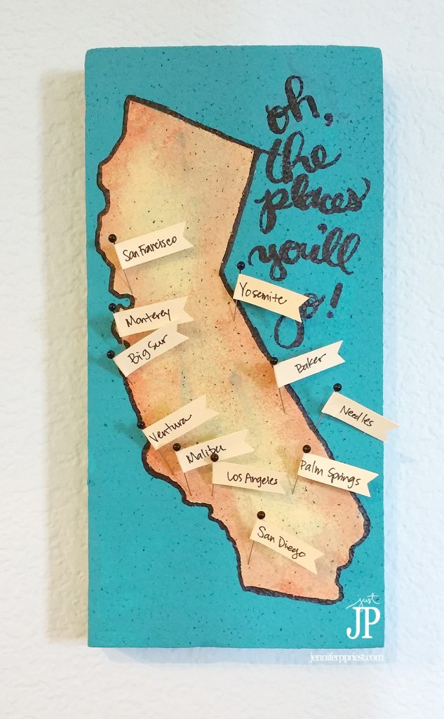 easy diy travel map you can make in 1 hour