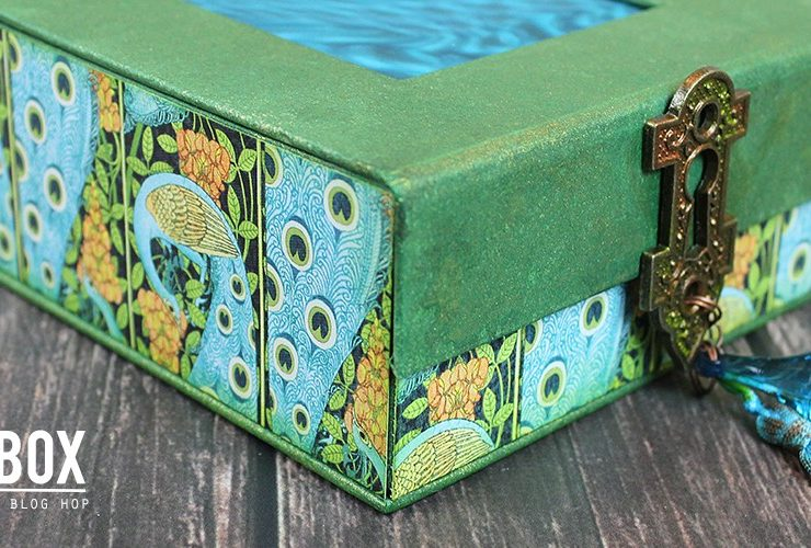 Trinkets Altered Box with Graphic 45 and Clearsnap – A Blog Hop
