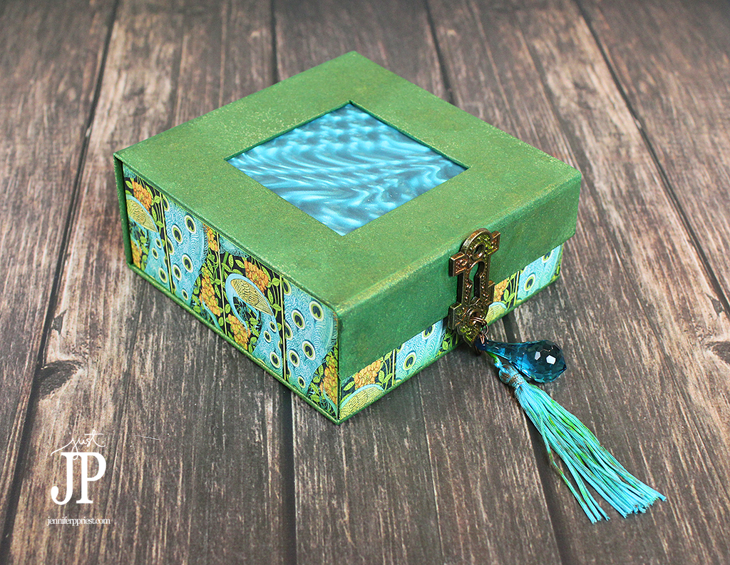 Graphic45---Clearsnap-Peacock-Mens-Trinket-Box-with-Tassel-JPriest