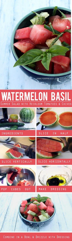 Watermelon basil salad recipe