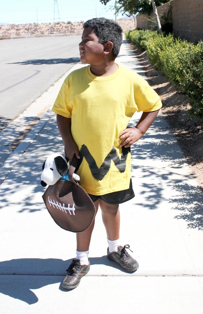 Charlie Brown Costume with FootBall Treat Bag JPriest sm