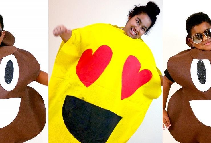 TWO No Sew DIY Emoji Costumes for Under $25! #JPHalloween