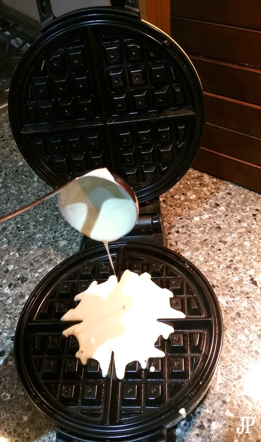 Pour-batter-into-Waffle-Iron-Jpriest