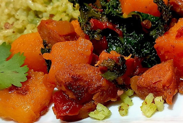 Paleo Chorizo Hash with Kale and Butternut Squash