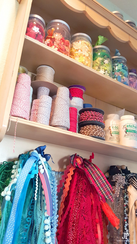 Craft-Room-Tour-2016---Ribbon-Storage-Flower-Storage---Jennifer-Priest