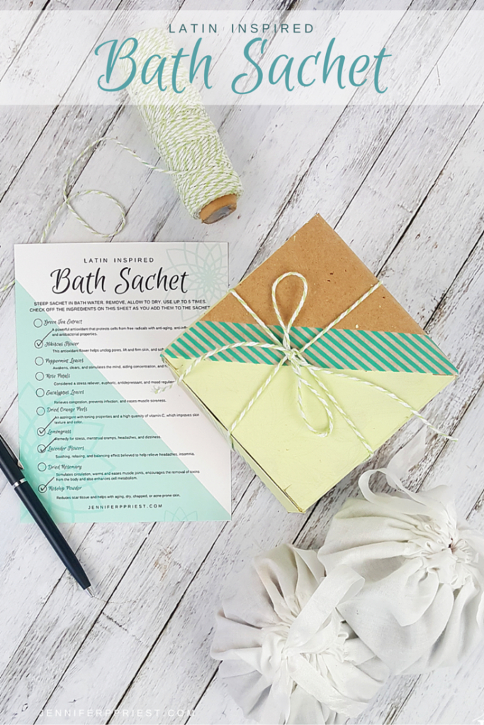 DIY Botanical Bath Sachet by JustJP