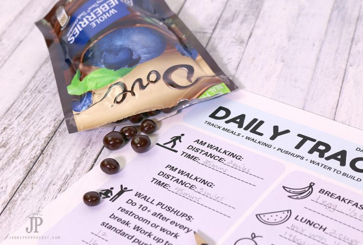 Getting in Shape – Printable Daily Fitness Tracker and How to Do Wall Push-ups #LoveDoveFruits