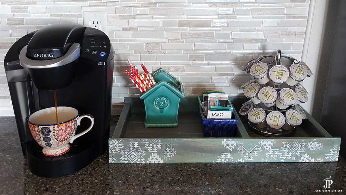Corral the Coffee Mess with this DIY Coffee Tray for KEURIG