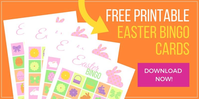 Easter Bingo Game printable cards
