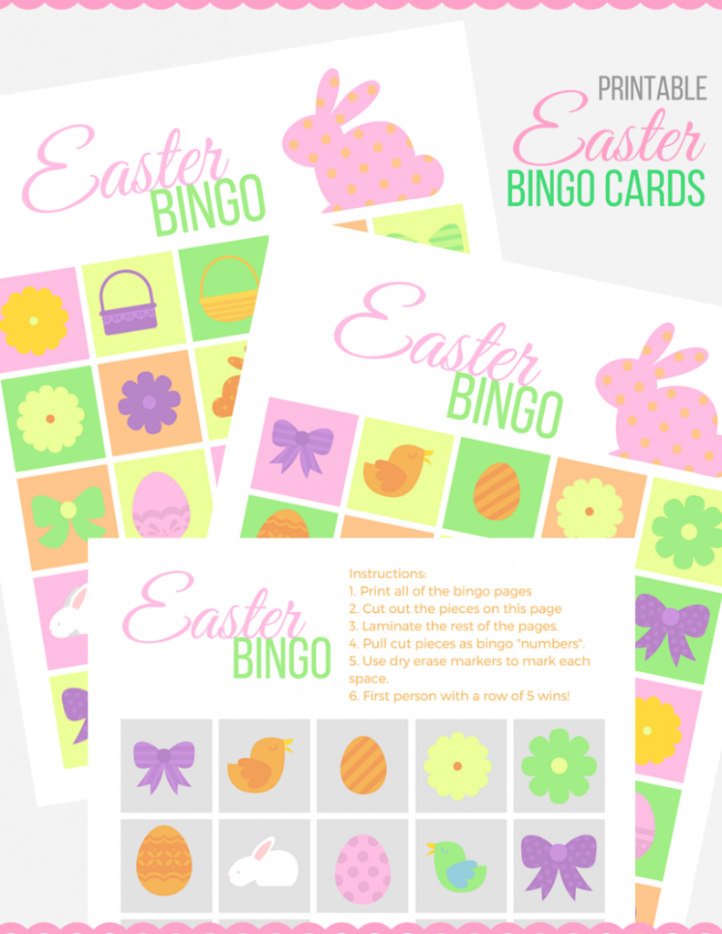 Easter Bingo Cards Just JP