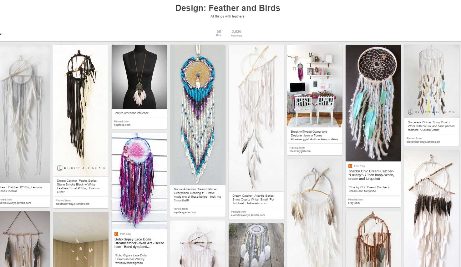 Pinterest Board - Feathers - for Inspiration JPriest