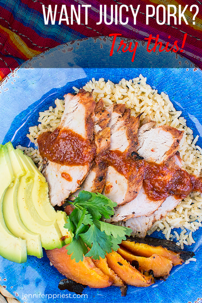 Juicy pork loin recipe with chamoy sauce