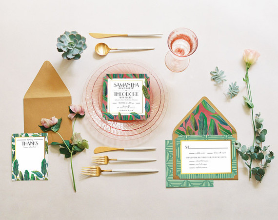 Justina Blakeney Wedding Invite Collection