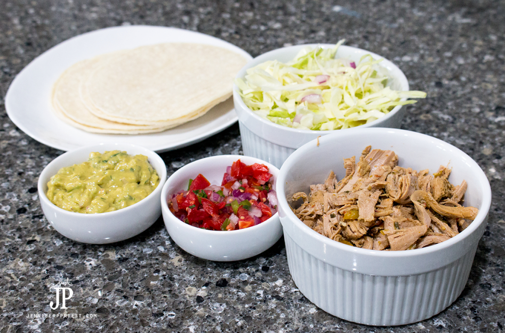 Mexican Street Taco recipe with slow cooker pork by Jenniferppriest.com