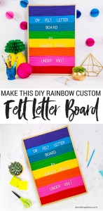How to make a DIY felt letter board for under $50 - don't buy a felt letter sign that looks like everyone else's. Make a CUSTOM one!