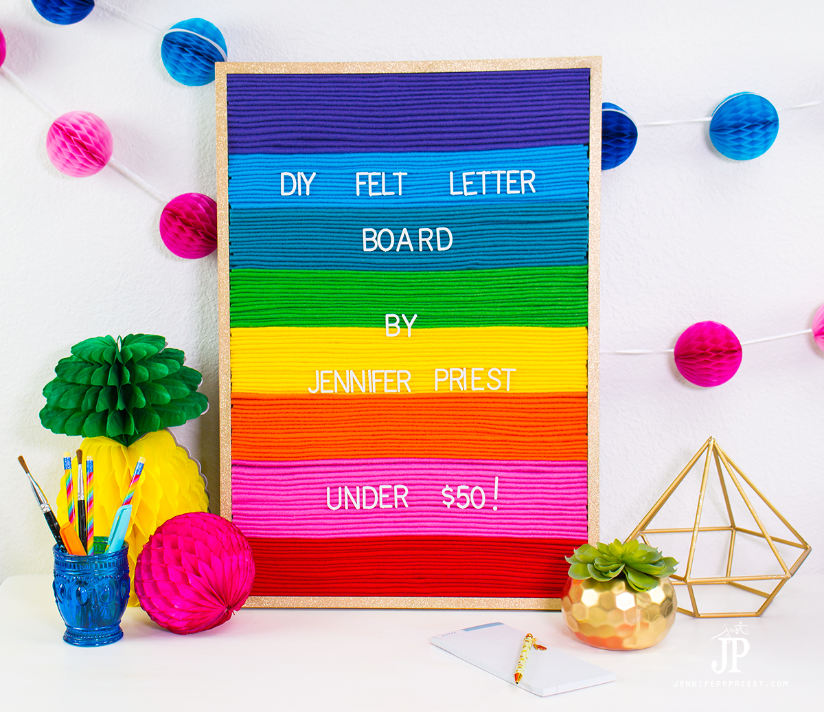 Diy felt letter board for Felt letter sign