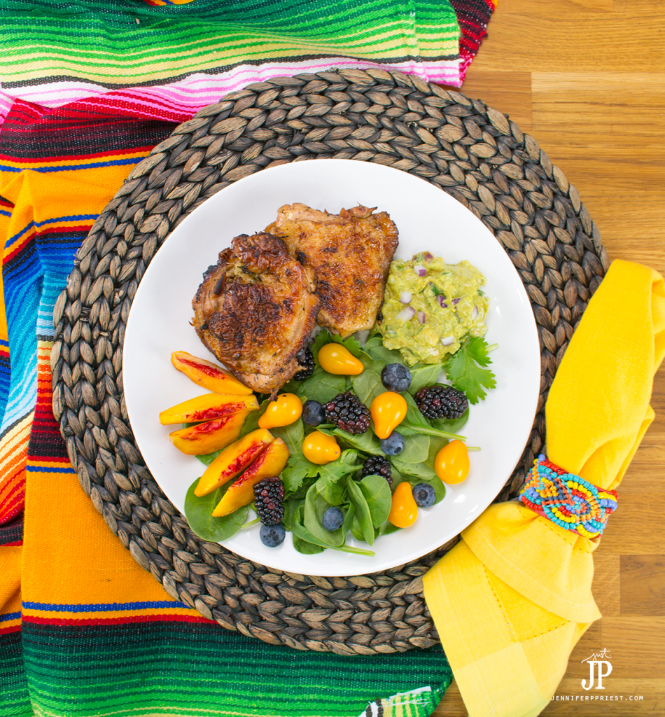 YUMY Lime Marinated chicken recipe with creamy guacamole - make this juicy chicken recipe and be the star of the barbecue