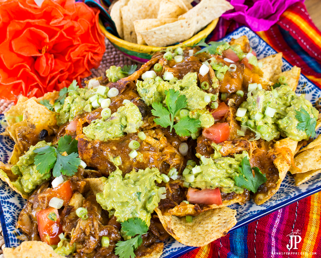mole nachos platter
