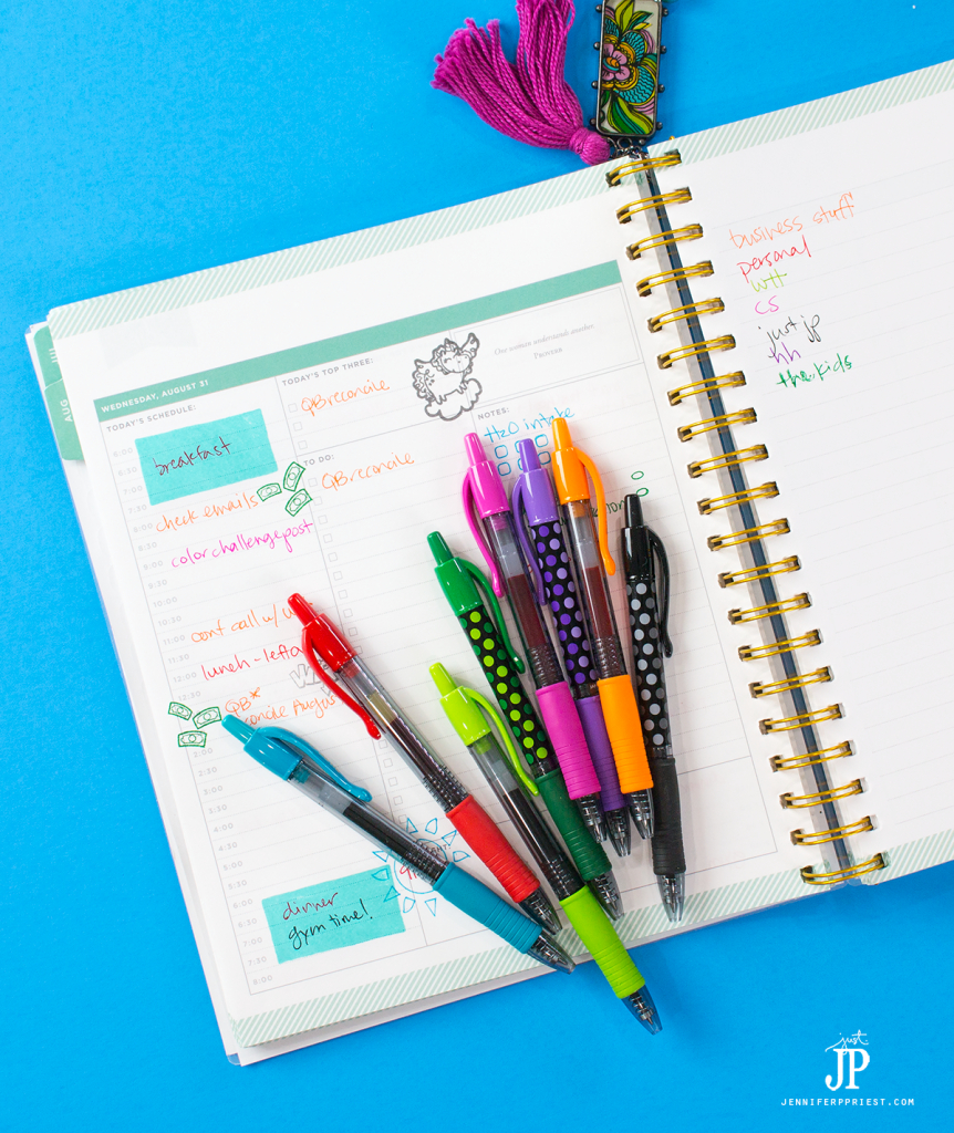 How to get started with planners using Pilot G2 pens - the basics you need to know. If you are super busy and are intimidated by the highly decorated, beautiful planners online, start here because we break it down and keep it simple so ANYONE can get started with planners! #PilotYourLife [AD] Pilot-G-2-Gel-Pen-designs-exclusively-at-Target-perfect-for-planners-jenniferppriest
