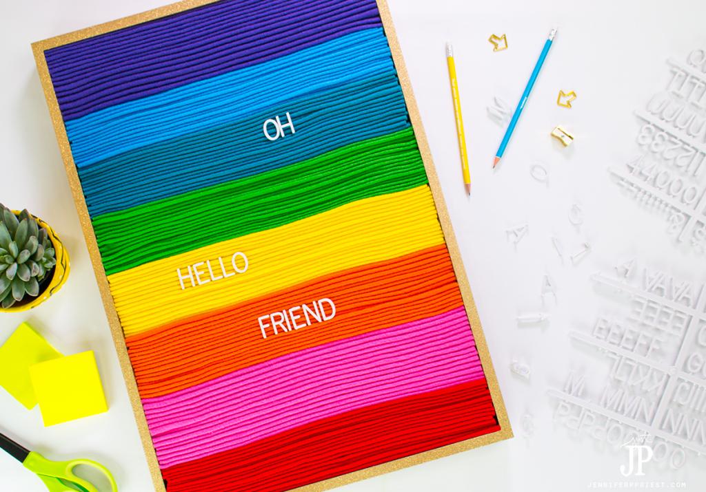 DIY felt letter board for under $50 - don't buy a felt letter sign that looks like everyone else's.