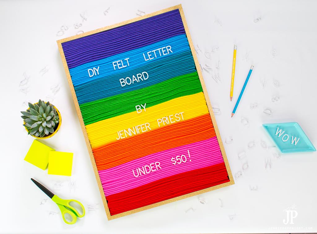 how to make a diy felt letter board for under 50 dont buy