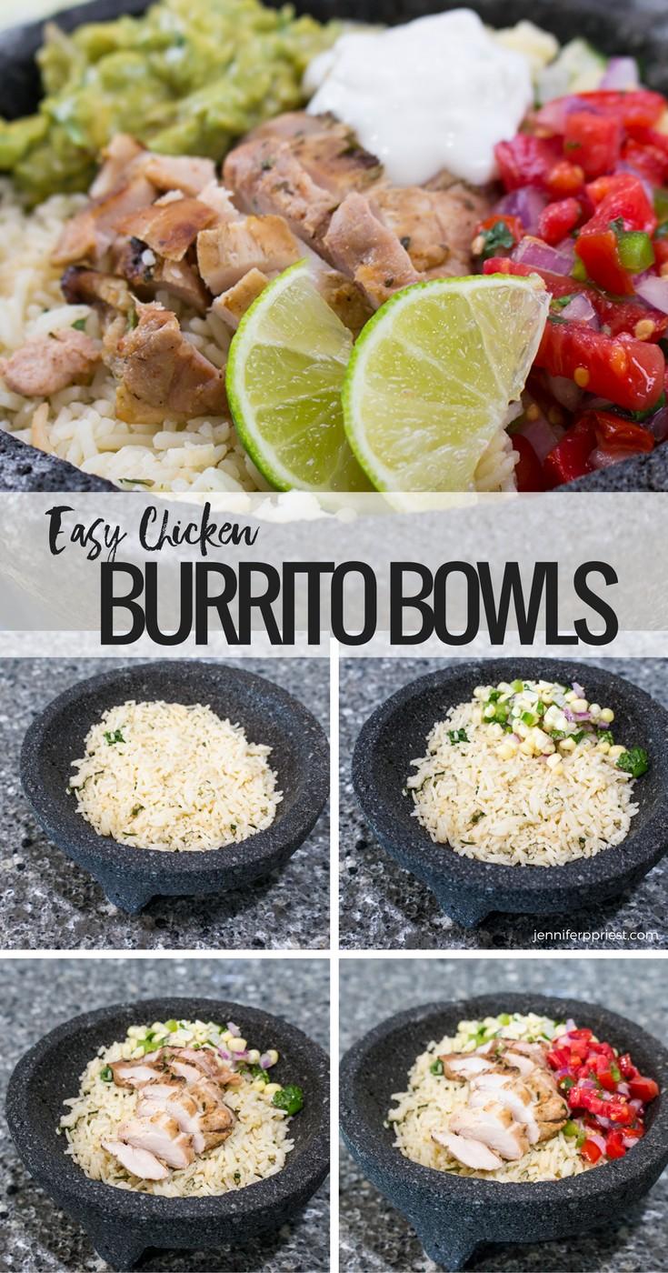 Chicken Burrito Bowl Recipe Make It At Home! Healthy Burrito Bowl Plus  Creamy Guacamole