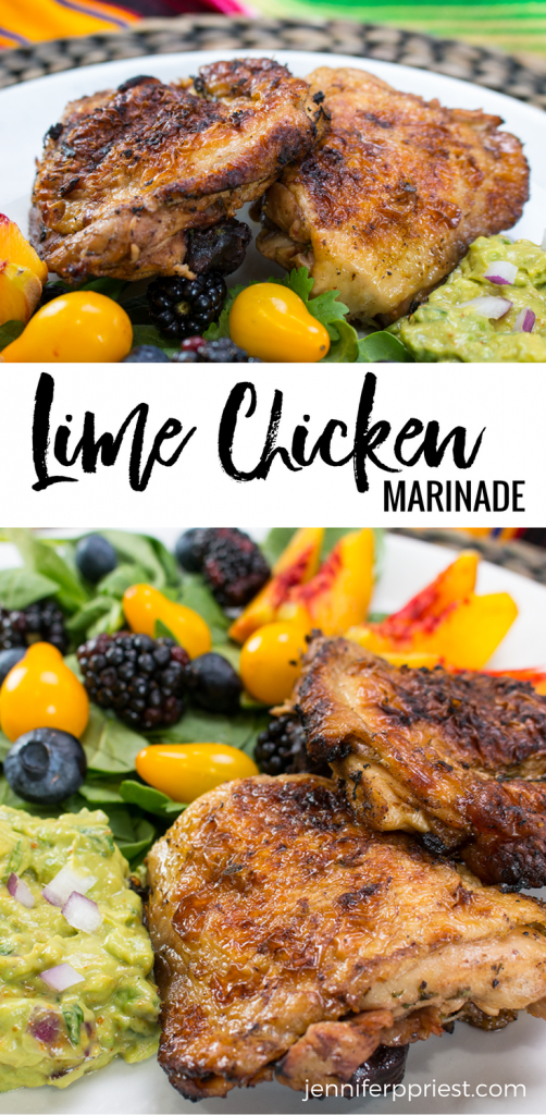 lime marinated chicken recipe pin graphic