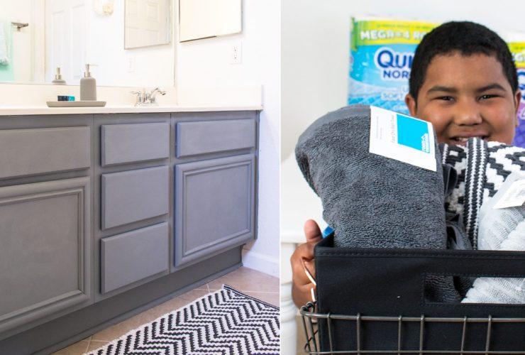 How to organize a kids shared bathroom – teens and tweens