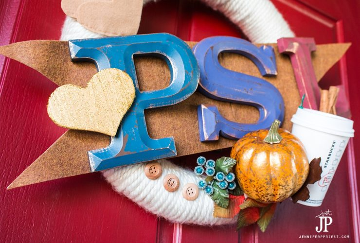 PSL Pumpkin Spice Latte Fall Wreath – Fall Wreath Hop