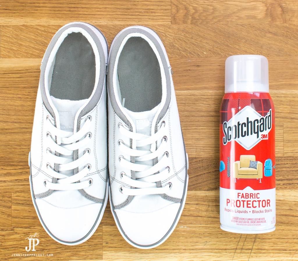 Scotchgard-on-white-shoes-to-protect-fabric-jenniferppriest