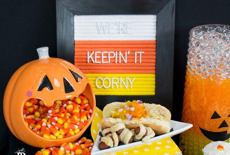 #AD Handmade Felt Letter Board – Candy Corn Edition