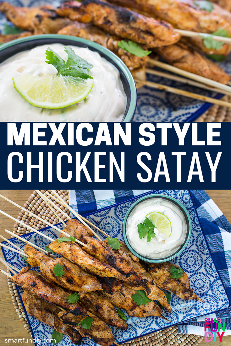 chicken satay long pin graphic