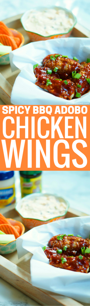 #AD #PruebaelSaborDeKnorr Adobo chicken wings recipe with Knorr Creamy Chipotle Dip - great for tailgating, watching the big game. Mix Mexican flavors with party food!