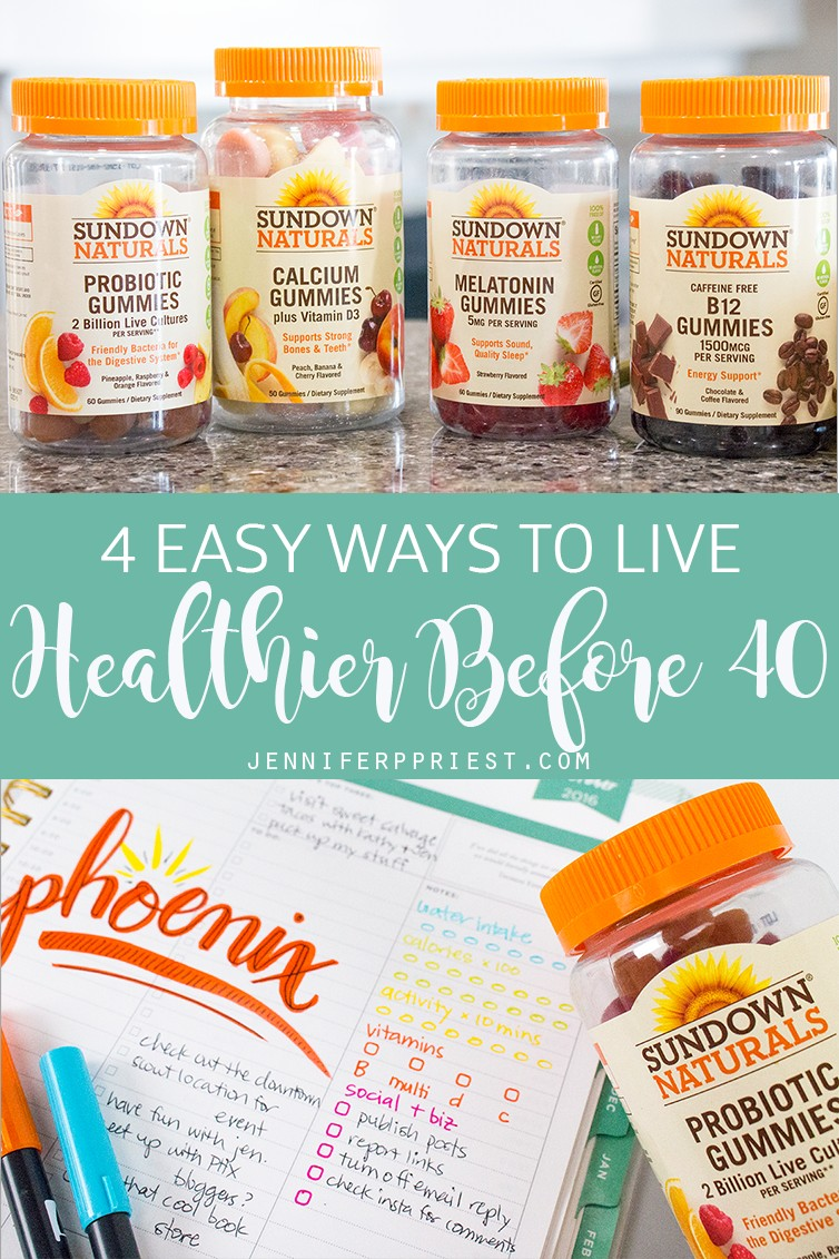 #ad Taking 10,000 steps a day, taking @sundownnaturals gummy vitamins, and doingwall pushups are just a couple of the EASY ways to lead a healthy lifestyle going into your 40s.Get ALL of my healthy living tips that you can start doing TODAY, on the blog at:https://www.smartfundiy.com/gummy-vitamins-live-healthier-in-your-40s/#goodnessgiveaway #sharethegoodness #pmedia