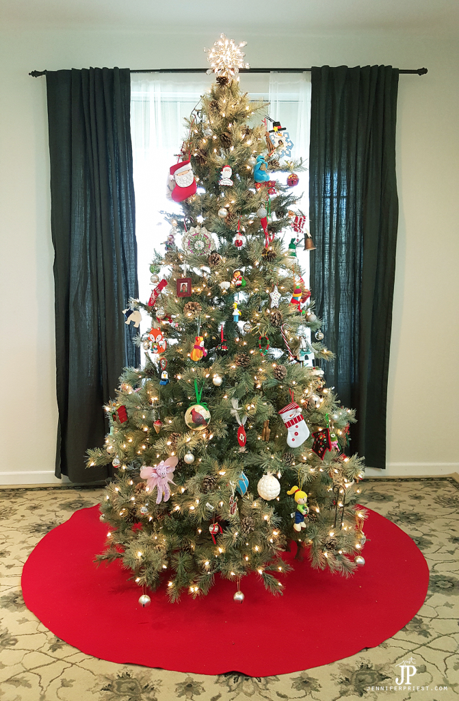 Giant diy christmas tree skirt a no sew